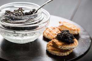 Black caviar and tarts